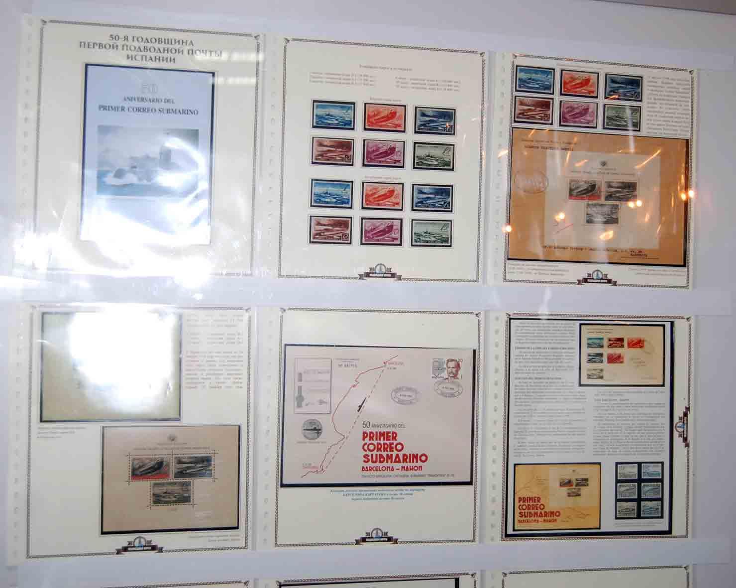 Подводная почта Испании на марках. Владимир Хохлов (Днепропетровск)