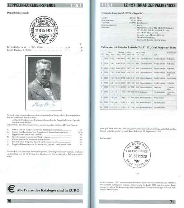 КАТАЛОГ ЦЕППЕЛИННОЙ ПОЧТ. Zeppelin Post Katalog. 2001