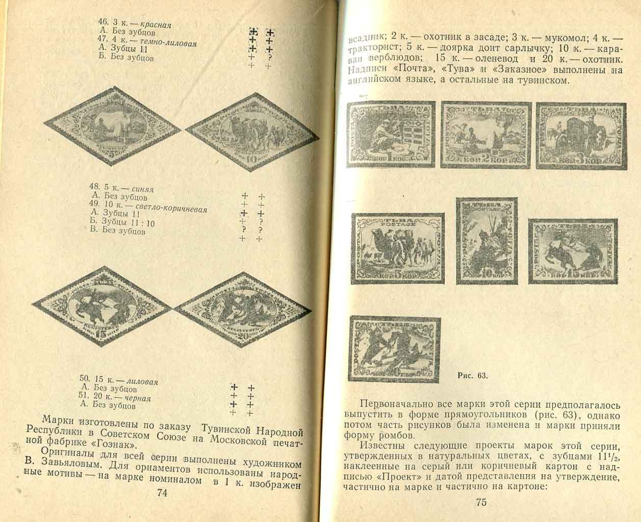 Каталог марок Тувы с ценами