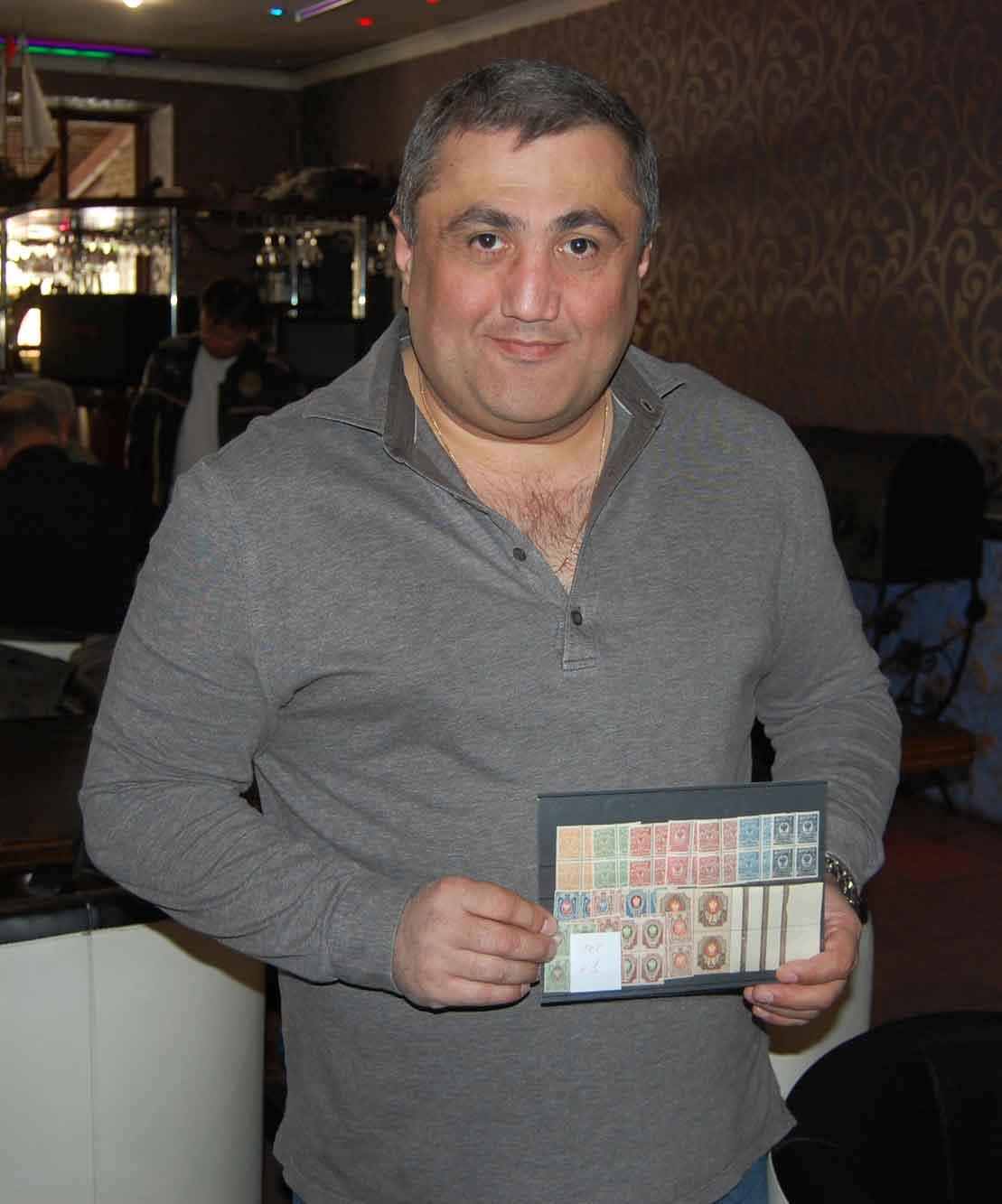 Карен Аршакян-первый победитель первого филателистического аукциона. Харьков 24 апреля 2016г.