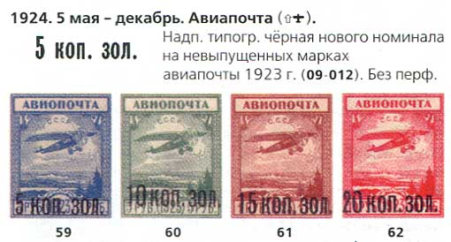 1924 гоод марки СССР Авиапочта. Надпечатка