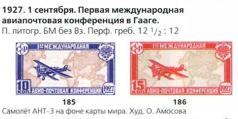 1927 год Первая международная авиапочтовая конференция в Гааге